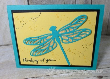 Dragonfly Dream, Hello You Thinlits, Stampin'Up! Heat & Stick, Frenchiestamps