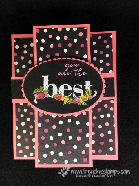 Happy Wishes, fun Fold, Petal Passion Designer Paper, Stampin' Blends, Stampin'Up!