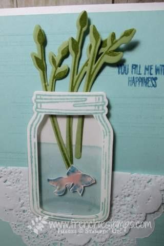 Jar of Love, Beta Fish card, Stampin'Up! Frenchiestamps
