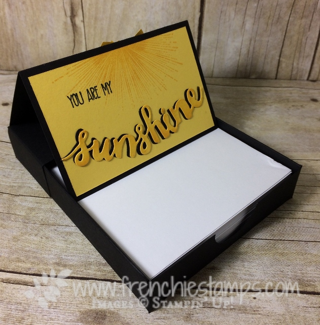 DIY Paper Tray, Note Pad holder, Stampin'Up!