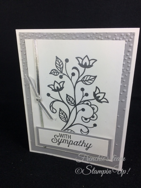 Flourishing Phrase, Frenchie' Team, Stampin'Up!