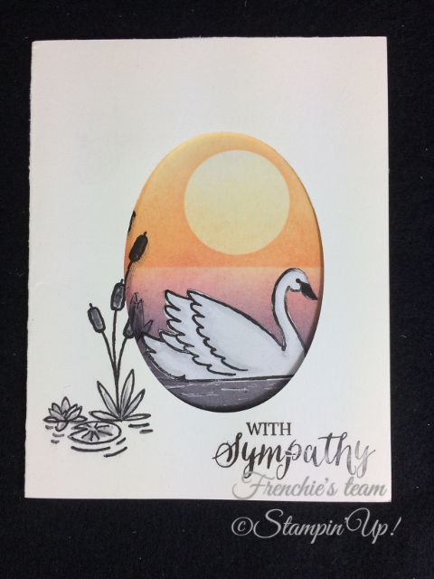 Swan Lake, Rose Wonder,  Frenchie' Team, Stampin'Up!