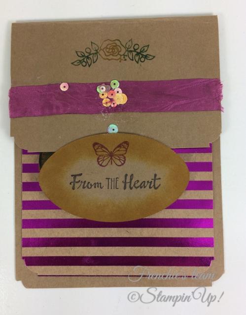 Frenchie' Team, Petals Palette, Stampin'Up!, Foil Frenzy Designer paper,