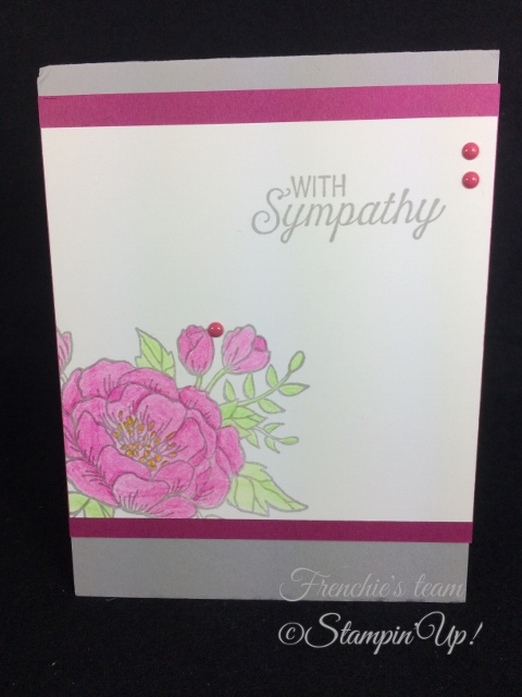Birthday Blooms, Flourishing Phrase , Stampin'Up!, Frenchie Team