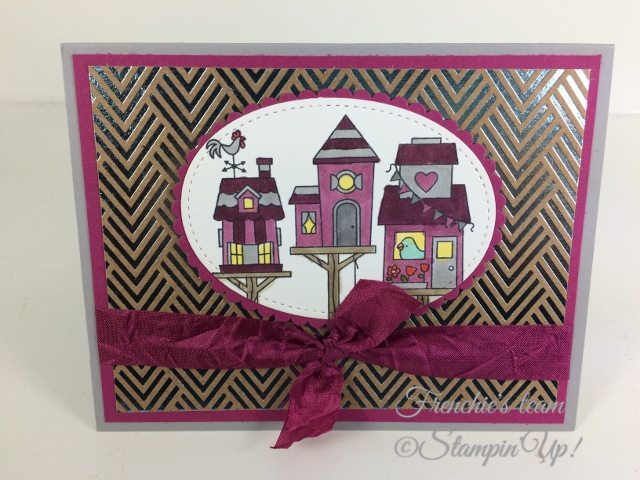 Frenchie' Team, Flying Home, Stampin'Up!, Foil Frenzy Designer paper,