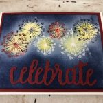 Dandelion Wishes, Celebrate You Thinlits, Emboss Resist, Red White and Blue, Frenchie Stamps, Stampin