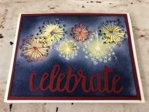 Dandelion Wishes, Celebrate You Thinlits, Emboss Resist, Red White and Blue, Frenchie Stamps, Stampin'Up!,