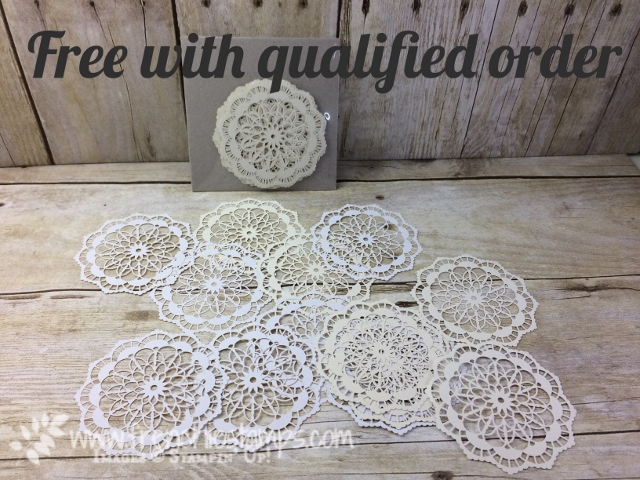 Free Lace Doilies, Stampin'Up!