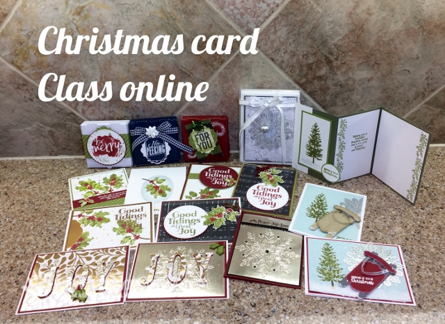 Frenchie Live Christmas Card Class
