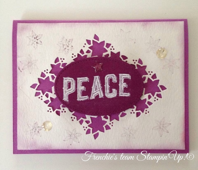 Frenchie's Team with Carole of Christmas and Card Front Builder, Stampin'Up!