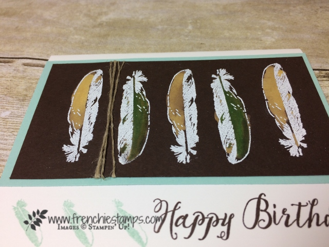 Feather Together, Color with bleach and blender pen, Stampin'Up! Frenchiestamps