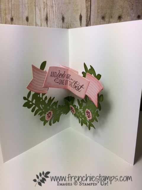 Lovely Laurel Pop Up Card, Stampin'Up!, Lovely Friends,