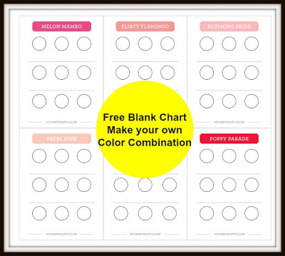 Blank Color Chart Make your own Chart, frenchiestamps