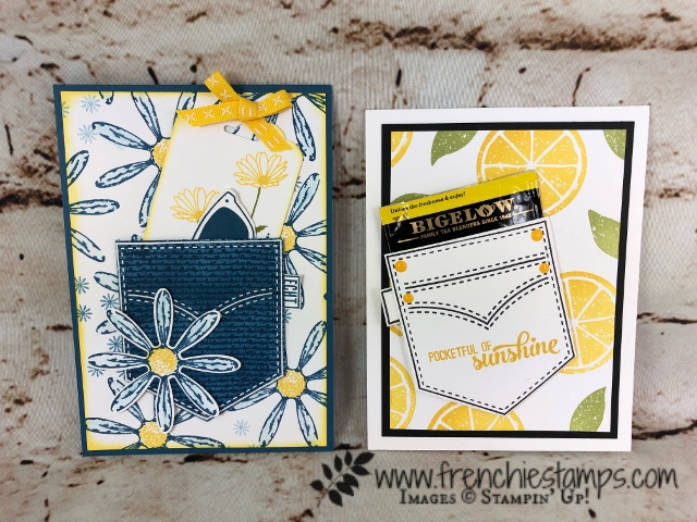 Pocketful of Sunshine, Daisy Delight, Lemon Zest, Stampin'Up!, Frenchiestamps,