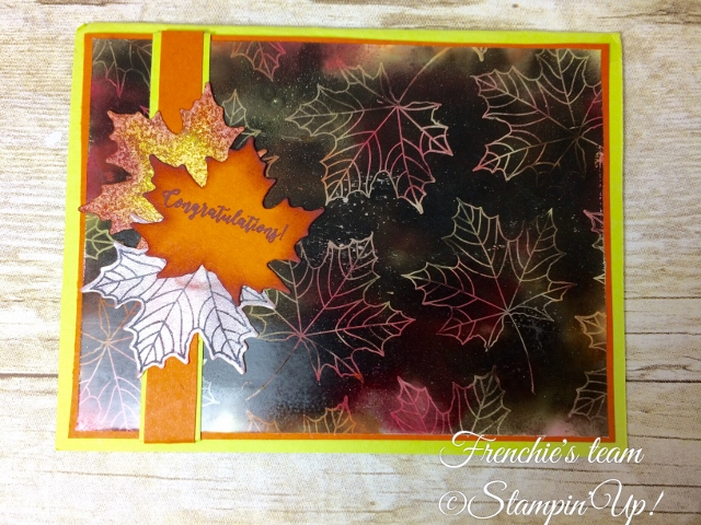 Glossy paper, Soot Technique, Colorful Season, Stampin'Up!