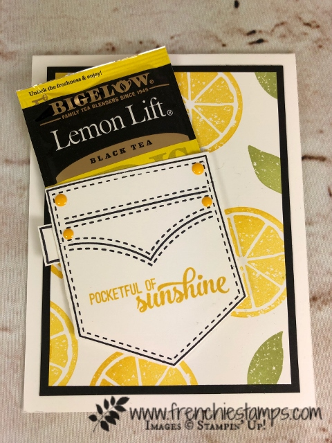 Pocketful of Sunshine, Lemon Zest, Stampin'Up!, Frenchiestamps,