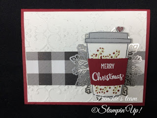 Frenchie's Team, Gift Card Holder, Stampin'Up!, Merry Cafe