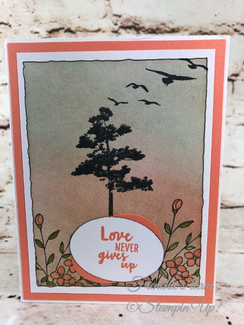 2018-2020 Stampin'Up! in-Colors, Frenchie Team challenge, Rooted in Nature