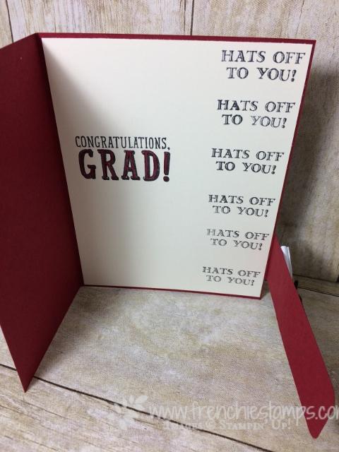 Graduation card, Big Buckle, B.Y.O.P., Large Number Framelits, Guy Greeting, Stampin'Up!