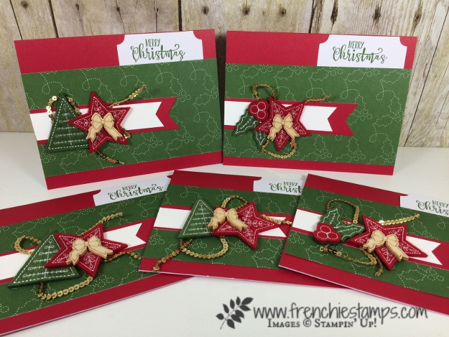 Watercolor Christmas Project, Quilted Designer paper, Quilted Felt, Stampin'Up!,