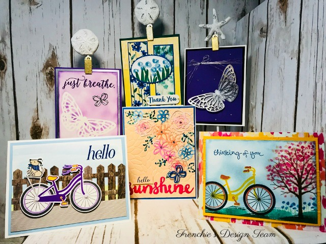 Frenchie's Team customer Appreciation,  Bike Ride, Springtime Impressions Thinlits, Abstract Impressions, Stampin'Up!,