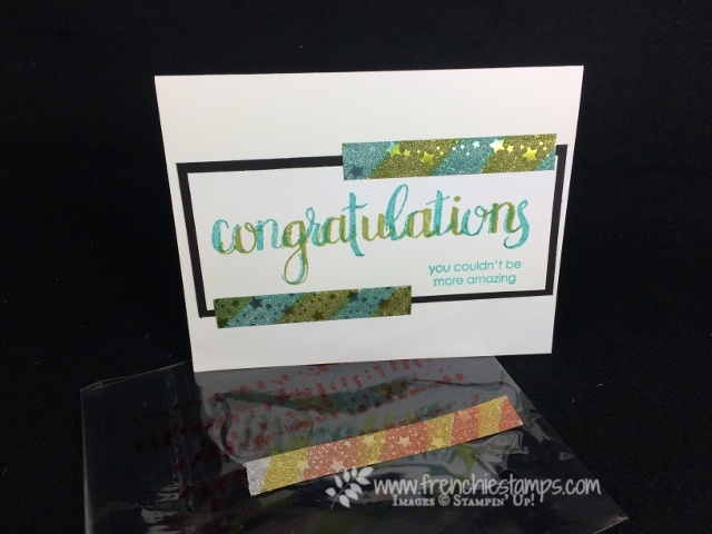 Amazing Congratulation, Washi Tape, Stampin'Up!, Frenchie Stamps,