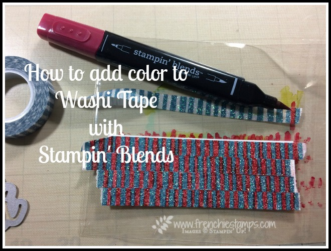 How To Color Glitter Washi Tape Tip of the day