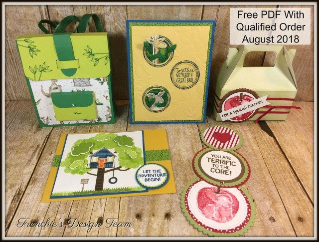 Frenchie Customer Appreciation, Back to School, Backpack, Pick For you, Animal Outing, Treehouse adventure, Stampin'Up!,