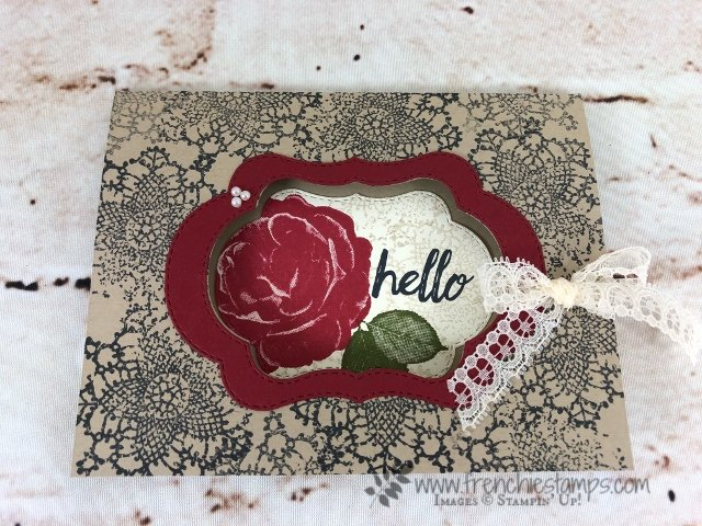 Stitched Seasons Framelits, Stampin'Up! Promotion, Healing Hugs, Frenchiestamps, Very Vintage,