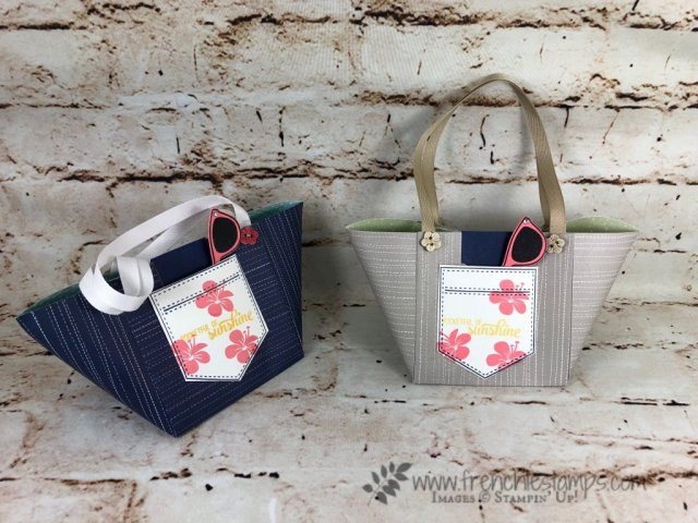 Beach Tote Bag, Twinkle Twinkle Designer Paper, Pocket of sunshine, Frenchie Live, stampin'Up!,