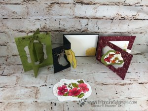 Frenchie Live Class on You Tube, Stitched Seasons, Blended Seasons, Swing Cards, Stampin'Up! August Promotion,