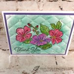 Watercolor Quilt, Tuffted embossing folder, stampin