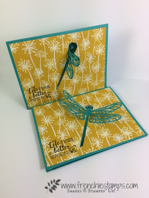 Petal Palette, Sliding Door Framlits, Sweet Cake Framelits, Moving Card, Interactive Card, Stampin'Up!