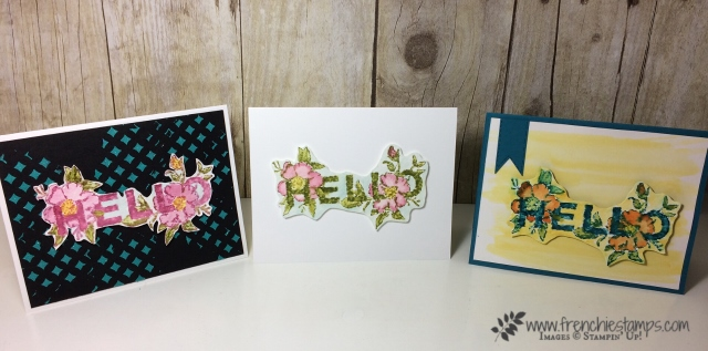 Floral Statement, Watercolor, Stampin'Up!, Frenchie Stamps,
