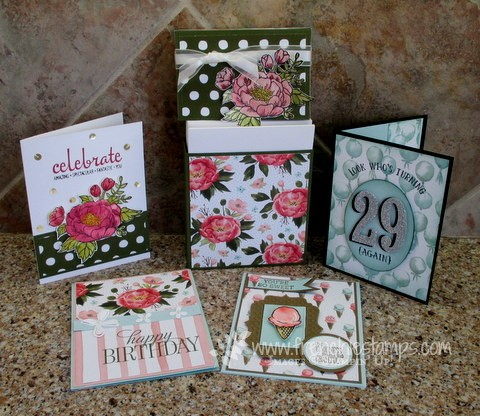 February Frenchie's Customer Appreciation Box and card
