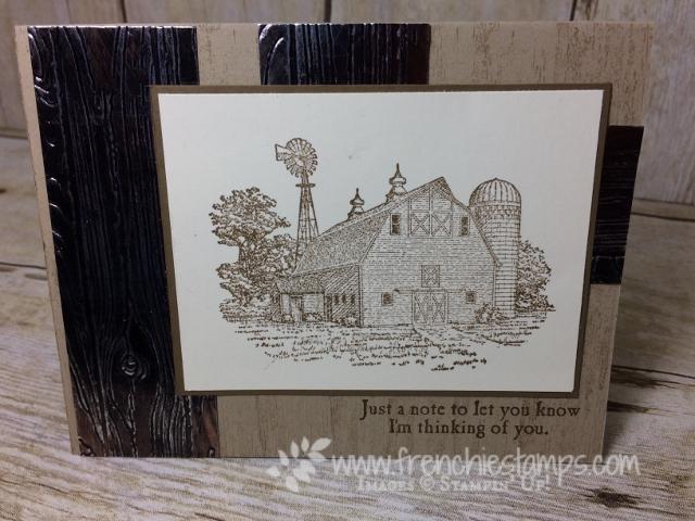 Heartland, Masculine Card, Pinewood Planks embossing folder, Copper Tarnish, Stampin'Up!,