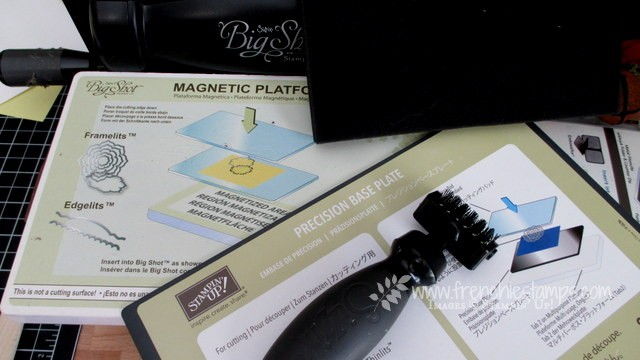 Big Shot Die Brush, Magnetic Platform, Precision plate