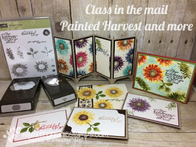 Painted Harvest, Stamping Class in the mail, Free Shipping Stampin'Up!, Frenchiestamps,