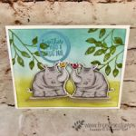 Animal Outing, Animal Friends, How to die cut a mirror image, Frenchie stamps, Stampin