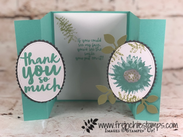 Gated Fold, Oval Closure, Painted Harvest, Thankful Thoughts, Stampin'Up!, Frenchiestamps,