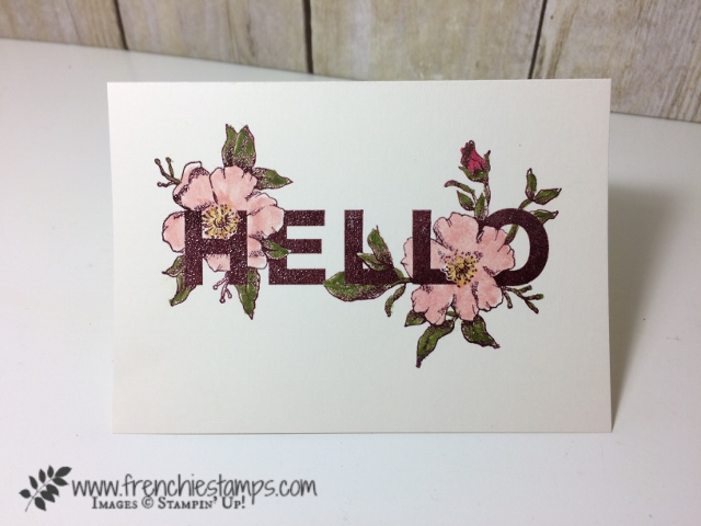 Floral Statements, Stampin'Up! 48 Color embossing, Frenchiestamps