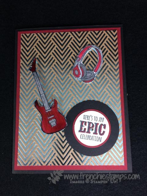 Epic Celebration, Stampin Up! sale a Bration , Stampin' Blends, Foil Paper, Frenchie Stamps,