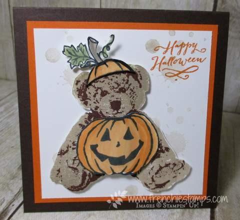 Stampin'Up! Baby Bear, Jar of Hunts, Halloween Card