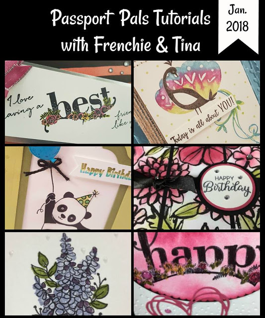 Stamping Instruction download, Beautiful Peacock, Lots of Lavender, Happy Wishes, Party Pandas,  Frenchie and Tina, Passport Pals, Stampin'Up!