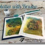 Splatter with Brusho, Stampin