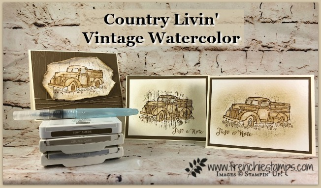 Country Livin' Vintage Watercolor
