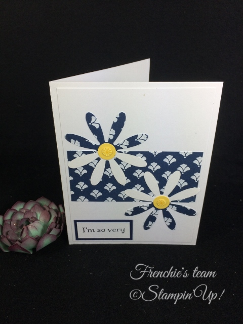 Daisy Punch, Sorry for Everything, Stampin'Up!, Frenchie Team