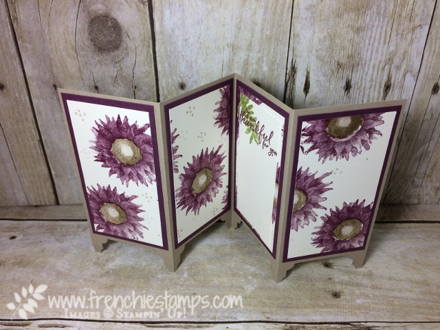 Painted Harvest, Divider Panel Card, Frenchiestamps, Stampin'Up!, Fresh Fig, Rich Razzelberry
