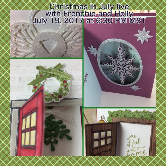 Christmas in July with Frenchie Stamps, Stampin'Up!