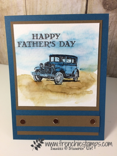 Easy Watercolor, Guy Greetins, Stampin'Up!, Frenchiestamps,